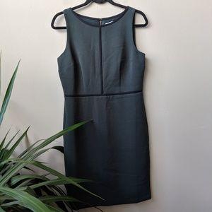 LOFT Green Sleeveless Black Trim Sheath Dress sz 6